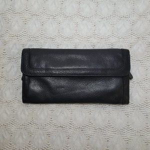 """Osgoode Marley leather travel jewelry case 8"""" x 4"""""""